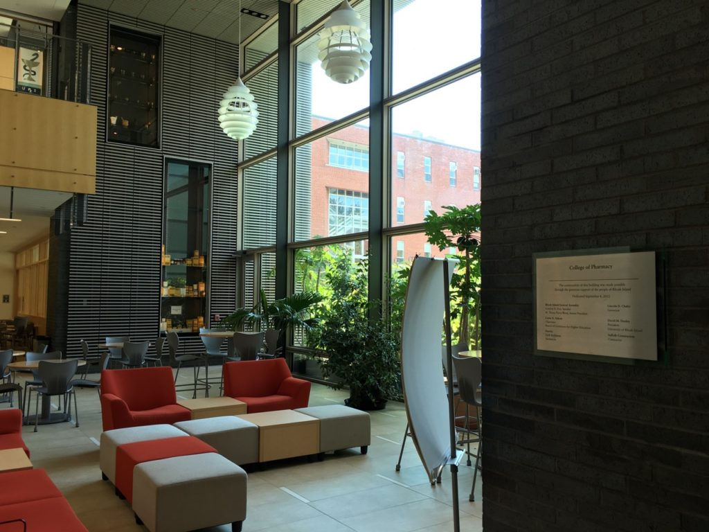 URI college of pharmacy foyer